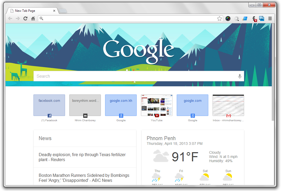 how to set the new tab page in google chrome