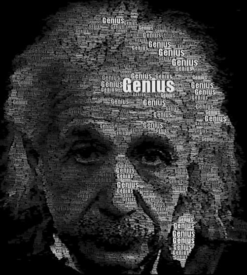 einstein-typography-portrait