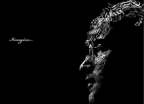 Typography-portrait-John-Lennon