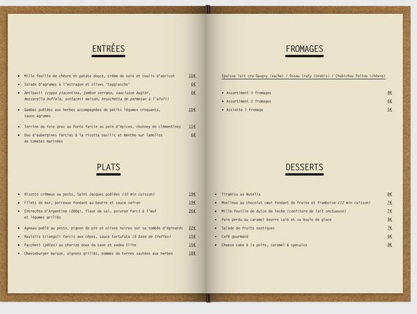 awesome and create restaurant menu designs