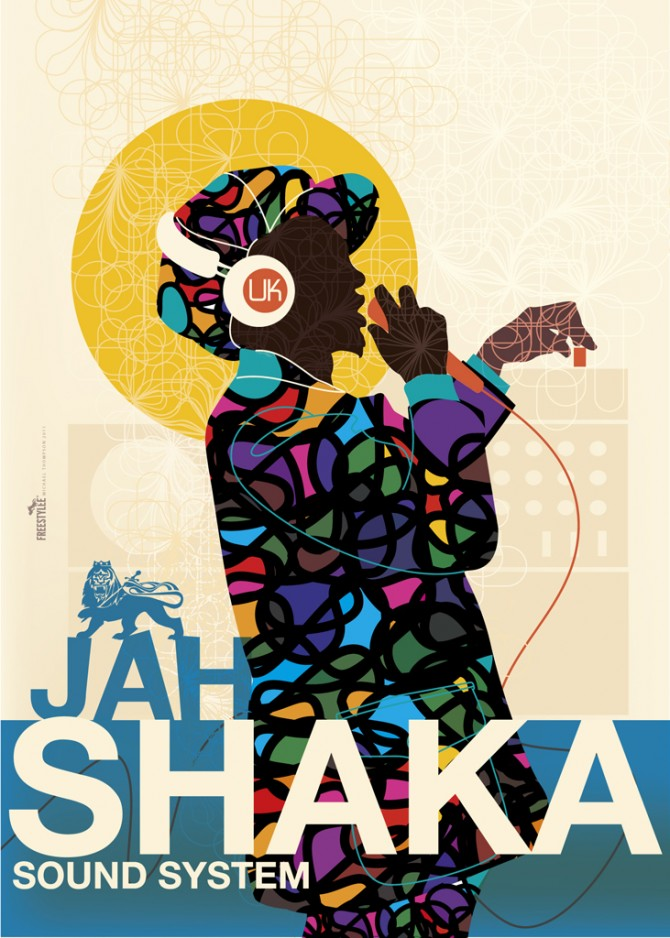 reggae sound poster shaka jah system graphic artist designs jamaica morning freestylee 50x70 thompson amazing posters michael music jamaican artists